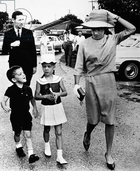McDIVITT FAMILY, 1965 Mrs. James McDivitt with children Patrick and Ann Lynn, attending mass on 6 June 1965, while James McDivitt piloted the Gemini IV mission.