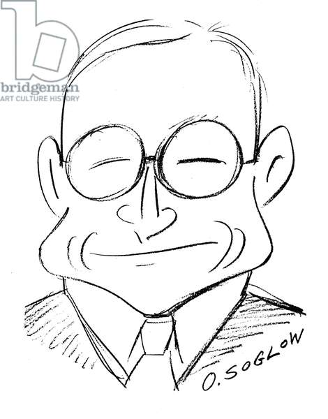 HARRY S. TRUMAN (1884-1972) 33rd President of the United States. Caricature, 1949, by Otto Soglow.