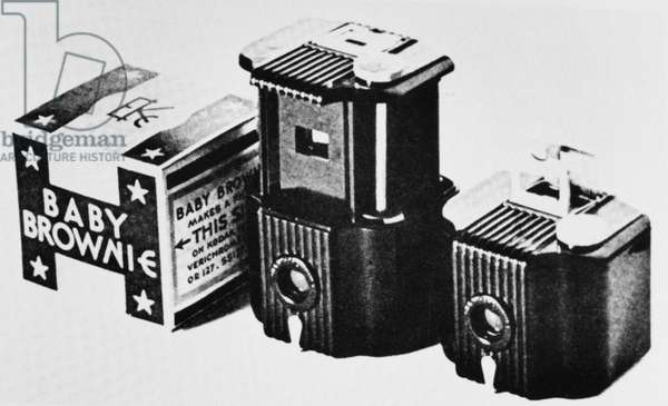 TEAGUE: BROWNIE CAMERAS Kodak 'Baby Brownie' cameras from the 1930s designed by Walter Dorwin Teague.