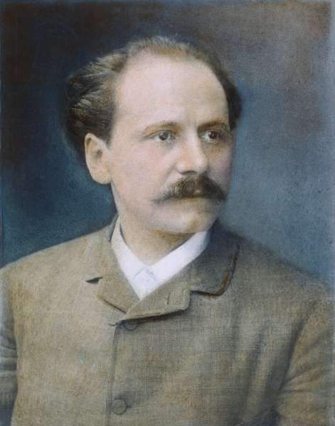 JULES MASSENET (1842-1912) French composer. Oil over a photograph, 1889, by Nadar.