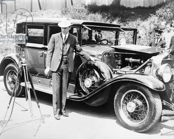 AL CAPONE'S CADILLAC, 1933 The custom-built armored Cadillac owned by Al Capone. Photograph, 1933.