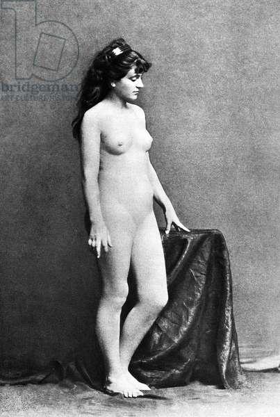 NUDE POSING, c.1885.