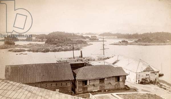ALASKA: SITKA HARBOR, 1887 The harbor at Sitka, Alaska, 1887.