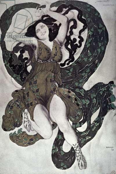 LEON BAKST: NARCISSE Leon Bakst design, 1911, for a nymph in Ballet Russes production of 'Narcisse.'