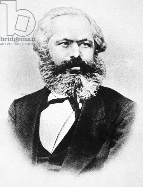 KARL MARX (1818-1883) German political philosopher.