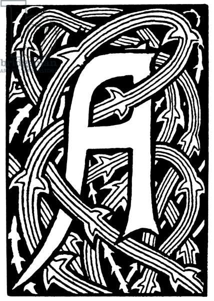 DECORATIVE INITIAL, 1893 (illustration)
