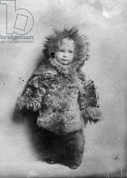 MARIE AHNIGHITO PEARY (1893-1978). Daughter of Arctic explorer Robert Peary. Photograph, c.1895.