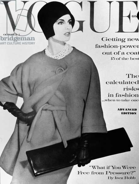 VOGUE MAGAZINE, 1960 Cover of the 1 October 1960 issue of the American edition of 'Vogue' magazine.