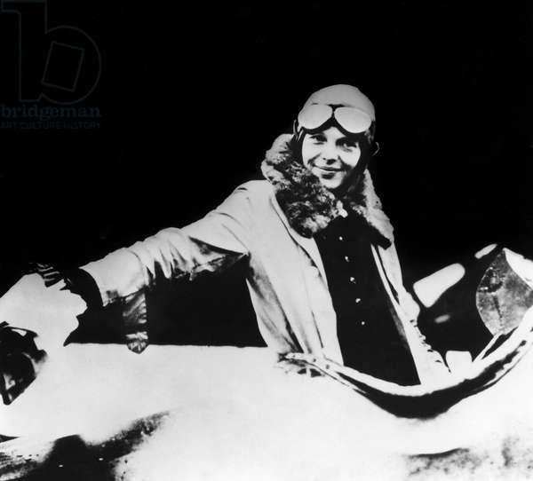 AMELIA EARHART (1897-1937) American aviator. Photograph, c.1930.