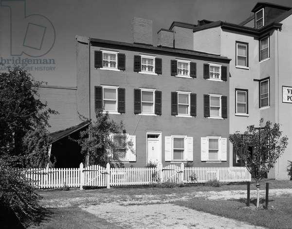 PHILADELPHIA: POE HOUSE The house in Philadelphia, Pennsylvania, where Edgar Allan Poe lived from 1837 to 1844. Photograph, 1967.