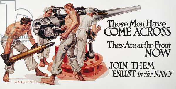 These Men Have Come Across.' American World War I recruiting poster, 1917