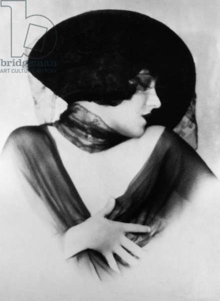 GLORIA SWANSON (1897-1983) American film actress. Photograph by Edwin Bower Hesser, 1924.
