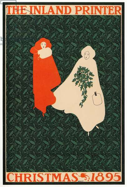 Cover of the magazine 'The Inland Printer,' Christmas 1895 (lithograph)