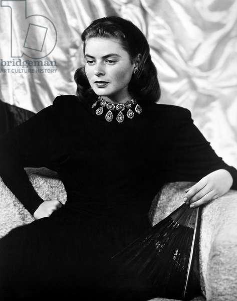 INGRID BERGMAN (1915-1982) Swedish actress. Photographed in 1946.