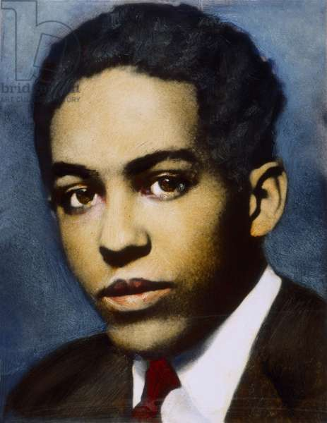 LANGSTON HUGHES (1902-1967). American writer. Oil over a photograph of the 1920s by Nickolas Muray.