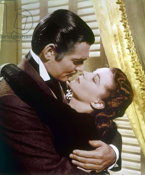 GONE WITH THE WIND, 1939 Vivien Leigh and Clark Gable in a scene from the film 'Gone With The Wind,' 1939.