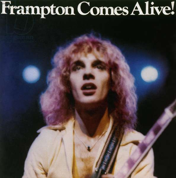 FRAMPTON ALBUM COVER, 1976 Cover of 'Frampton Comes Alive!,' a live concert album by British rock musician Peter Frampton, 1976.