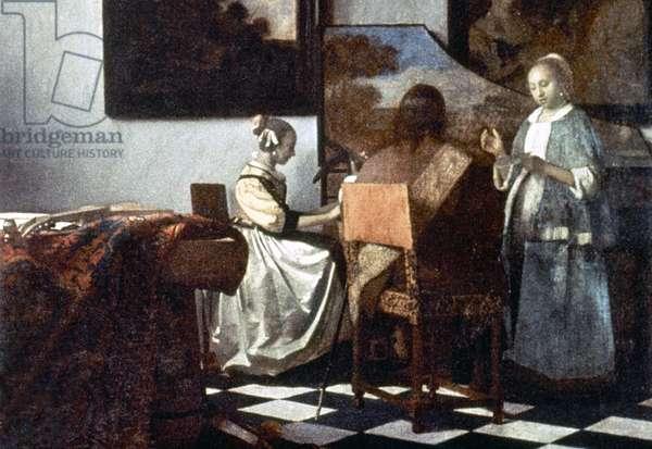 VERMEER: THE CONCERT Painting by Johannes Vermeer, c.1658-60.