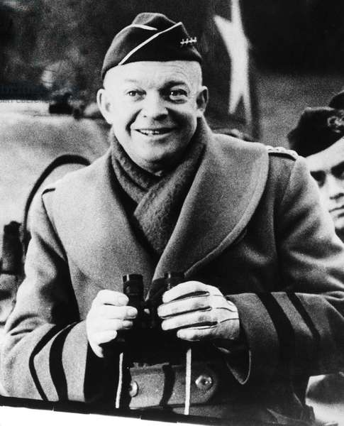 DWIGHT D. EISENHOWER (1890-1969). 34th President of the United States. Photographed as Supreme Allied General during World War II, c.1943.