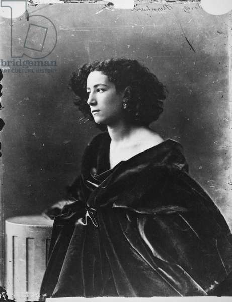 SARAH BERNHARDT (1844-1923) French actress. Photographed c.1866 by Nadar.