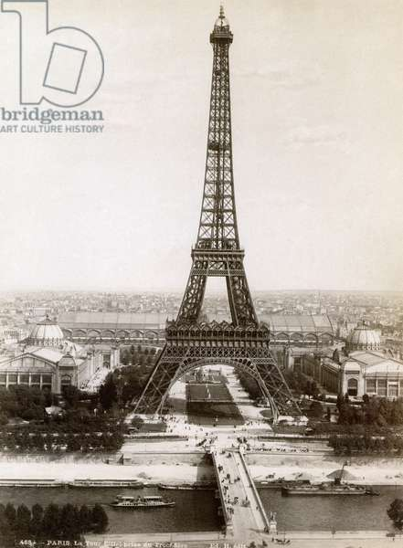 PARIS: EIFFEL TOWER, 1900 The Eiffel Tower, photographed at the time of the International Exposition, 1900.