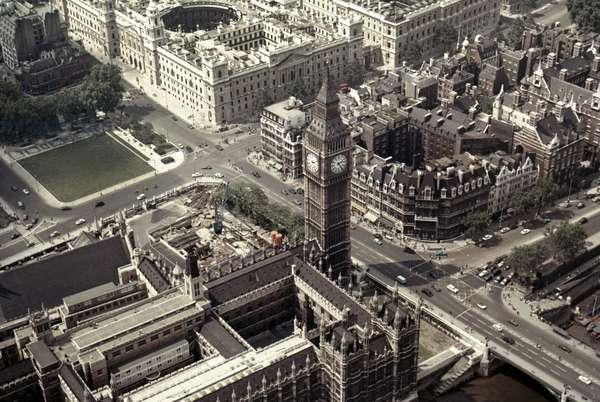 LONDON: BIG BEN Aerial view of Big Ben.