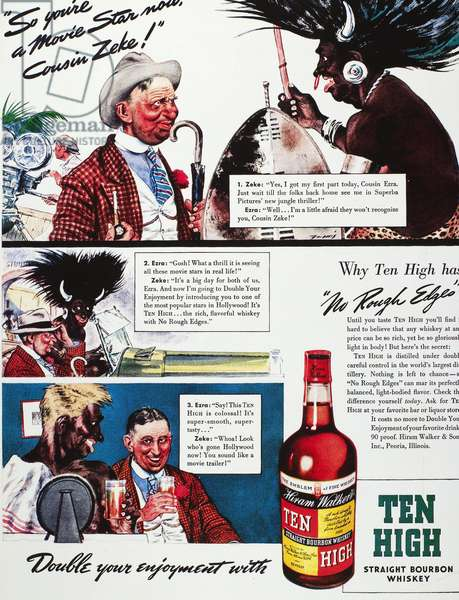 AMERICAN WHISKEY AD, 1939 Advertisement for Ten High Straight Bourbon whiskey, 1939.
