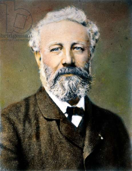 JULES VERNE (1828-1905) French writer: oil over a photograph by Nadar.