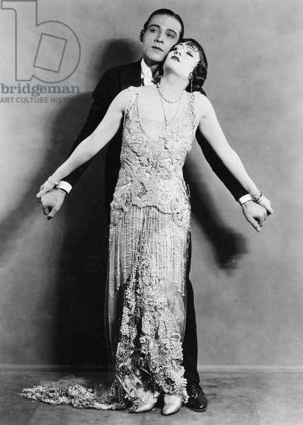 RUDOLPH VALENTINO (1895-1926). American (Italian-born) film actor. Valentino and Gloria Swanson in 'Beyond the Rocks,' 1922.