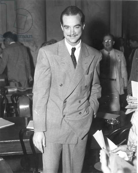 HOWARD HUGHES (1905-1976) American industrialist, aviator, and film producer. Photographed c.1947.