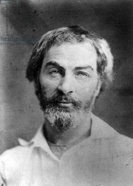 WALT WHITMAN (1819-1892) American poet. Photographed in 1854.