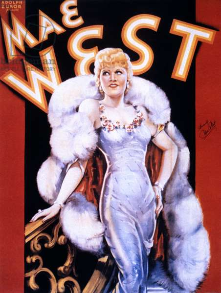 MAE WEST: POSTER Mae West (1893?-1980). American entertainer on a motion picture poster, mid-1930s.