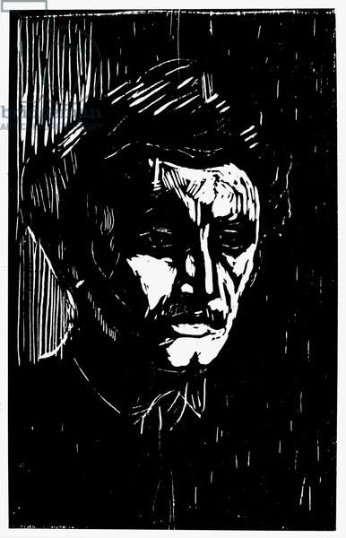 Self-portrait, 1911 (woodcut)