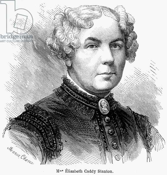 ELIZABETH CADY STANTON (1815-1902). American women's suffrage advocate. Wood engraving, French, 1868.