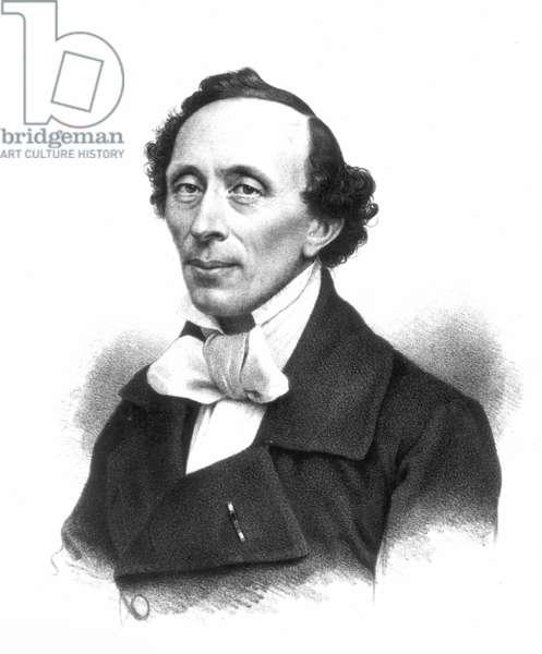 HANS CHRISTIAN ANDERSEN (1805-1875). Danish writer. Danish lithograph, 19th century.