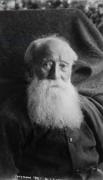 JOHN BURROUGHS (1837-1921) American naturalist. Photograph, 1921.