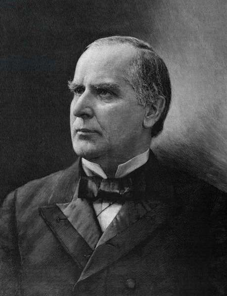 WILLIAM McKINLEY (1843-1901). 25th President of the United States. Engraving, 1896.