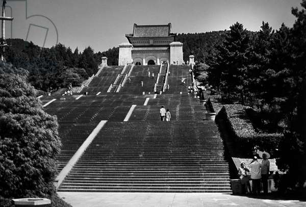 SUN YAT-SEN MAUSOLEUM A view of the Sun Yat-Sen Mausoleum in Nanking, China, completed in 1929. Photograph, mid-20th century.