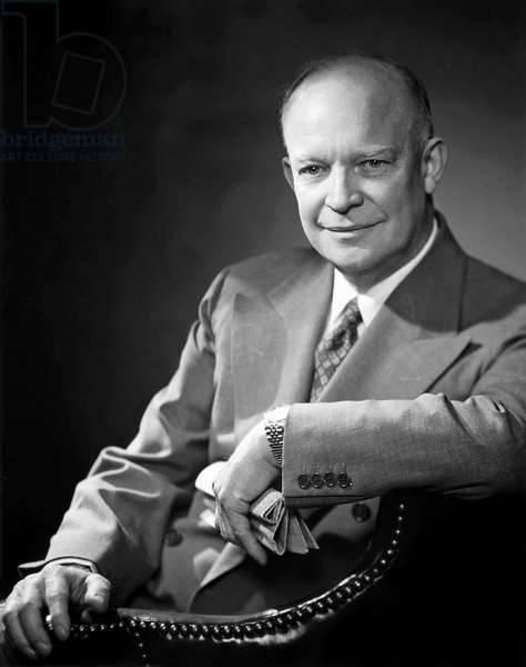 DWIGHT D. EISENHOWER (1890-1969). 34th President of the United States. Photograph, mid 20th century.