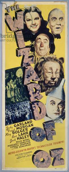 WIZARD OF OZ, 1939 American poster for the film 'The Wizard of Oz,' 1939.