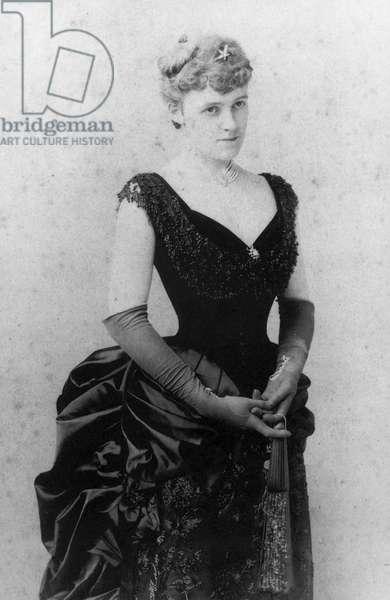 EDITH WHARTON (1862-1937) American writer. Photographed c.1885.