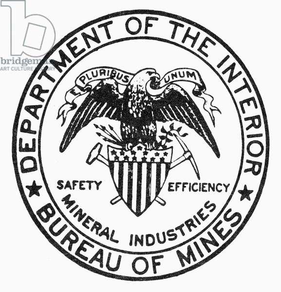 U.S. BUREAU OF MINES Seal of the U.S. Bureau of Mines.