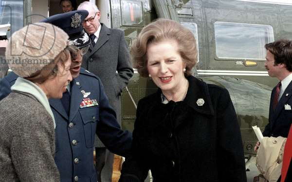 MARGARET THATCHER (1925-2013). English politician. Photograph, 2 March 1981.