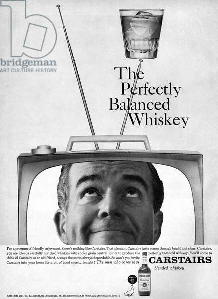 AD: WHISKEY, 1959 American advertisement for Carstairs Whiskey, 1959.