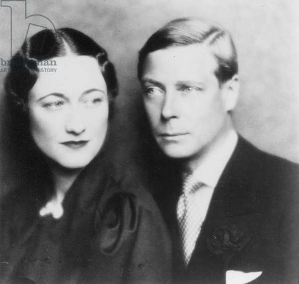 EDWARD VIII (1894-1972) King of Great Britain, 1936. The first studio portrait of Edward VIII (then Prince of Wales) and Mrs Wallis Warfield Simpson, 1935.
