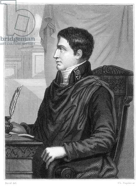 LUCIEN BONAPARTE (1775-1840) Brother of Napoleon; Prince of Canino. Steel engraving, French, 19th century.