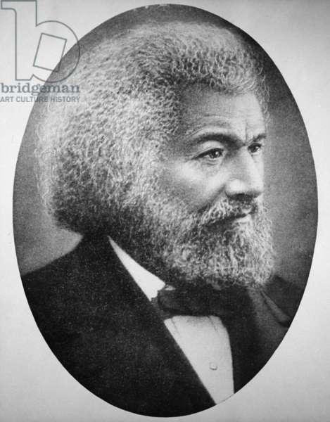FREDERICK DOUGLASS ( c.1817-1895). American abolitionist. Photograph, c.1885.