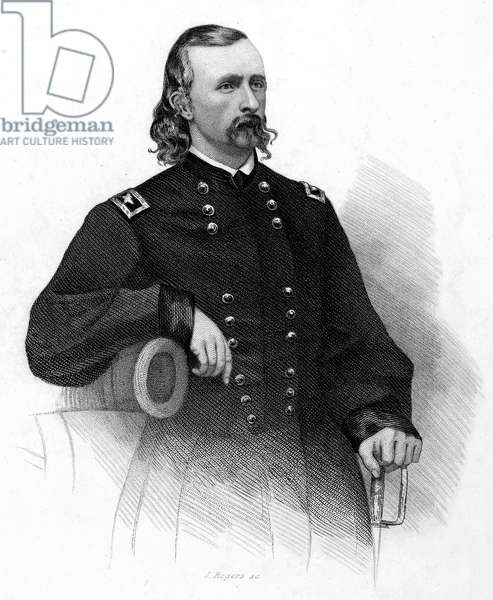 GEORGE CUSTER (1839-1876) American army officer. Steel engraving, 19th century.