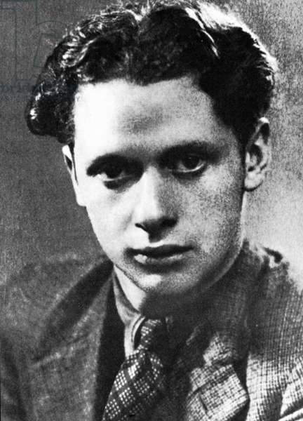 DYLAN THOMAS (1914-1953) Welsh poet. A photograph of himself that Thomas sent to Pamela Hansford Johnson in 1933.