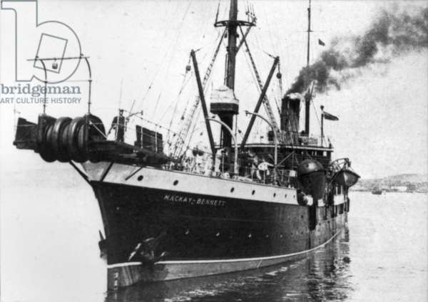 THE MACKAY-BENNETT, 1912 The 'funeral' ship that went to the scene of the Titanic disaster to recover the bodies from the water.